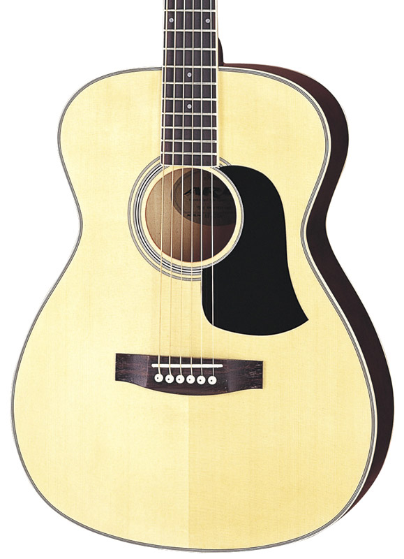 aria af 20 acoustic guitar folk size natural new ebay. Black Bedroom Furniture Sets. Home Design Ideas