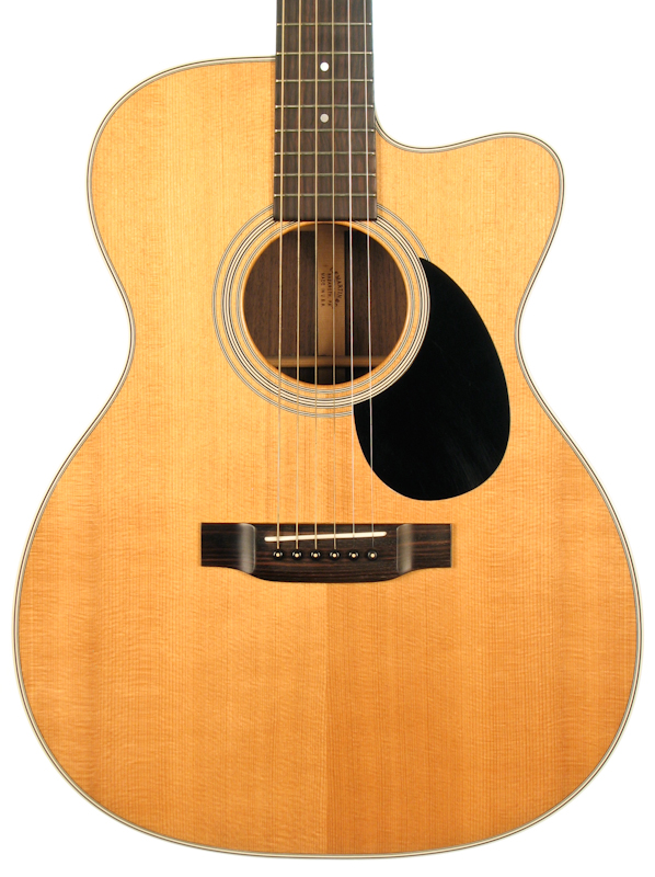 martin omc 28e electro acoustic guitar waverly tuners mcintyre pickup preowned ebay. Black Bedroom Furniture Sets. Home Design Ideas