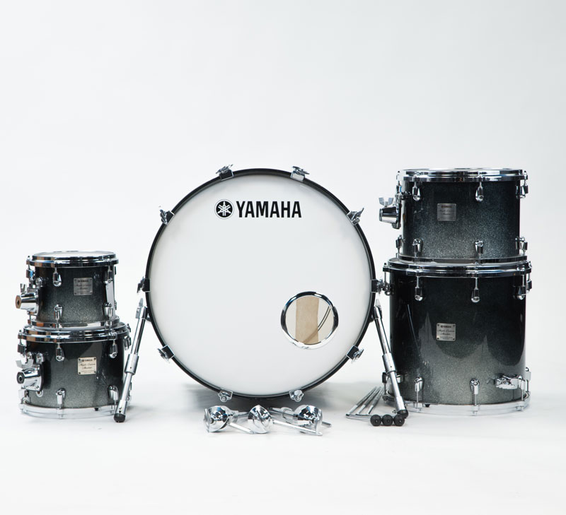 Yamaha Maple Custom Absolute Black Sparkle Fade