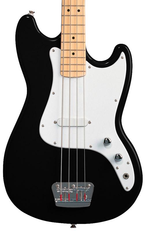 fender squier affinity bronco bass guitar black maple new ebay. Black Bedroom Furniture Sets. Home Design Ideas