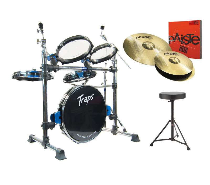 traps a400 acoustic drum kit with paiste cymbals new ebay. Black Bedroom Furniture Sets. Home Design Ideas