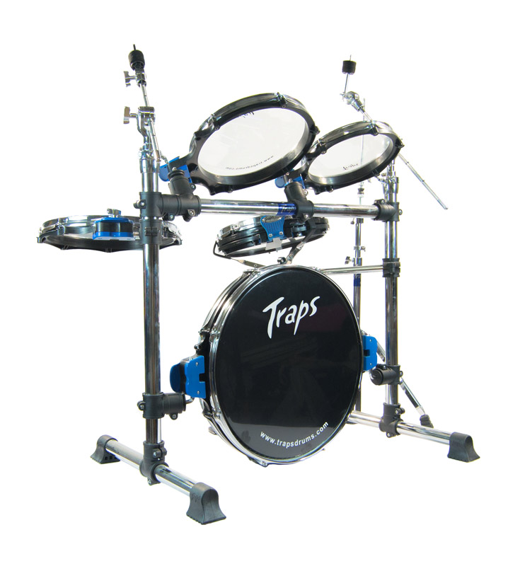 traps a400 nc acoustic drum kit no cymbals with drum hardware bags ebay. Black Bedroom Furniture Sets. Home Design Ideas